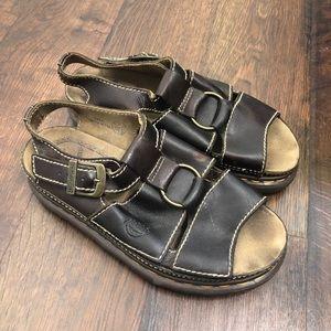 Dr Martens Vintage Platform Sandals Brown England